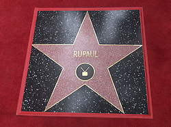 March 16, 2018 - Los Angeles, California, U.S - RuPaul's star is seen at his Hollywood Walk of Fame Star ceremony on Friday, March 16, 2018, in Los Angeles. (Credit Image: © Ringo Chiu via ZUMA Wire)