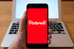 Pinterest social media app home page on smart phone