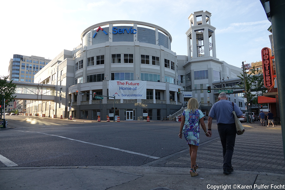 The former Peabody Place just of the iconic Beale Street in Memphis, will be the new home offices of Service Master.