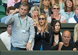 25.06.2011, Wimbledon, London, GBR, Wimbledon Tennis Championships, im Bild Jelena Ristic cheers on her boyfriend Novak Djokovic (SRB) during the Gentlemen's Singles 3rd Round match on day six of the Wimbledon Lawn Tennis Championships at the All England Lawn Tennis and Croquet Club, EXPA Pictures © 2011, PhotoCredit: EXPA/ Propaganda/ *** ATTENTION *** UK OUT!
