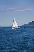 Sailing, Gulf Islands, Vancouver Island, British Columbia, Canada