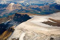 Aerial view of Nizina Mountain, Wrangell-St. Elias National Park Alaska