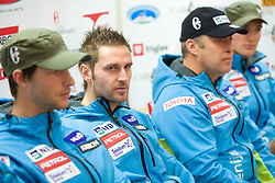 Ales Gorza at press conference of Men Slovenian alpine team before the World Championship in Val d'Isere, France,  on January 26, 2009, in Ljubljana, Slovenia.  (Photo by Vid Ponikvar / Sportida)