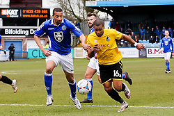 Bristol Rovers' Jermaine Easter attacks - Photo mandatory by-line: Neil Brookman/JMP - Mobile: 07966 386802 - 28/03/2015 - SPORT - Football - Macclesfield - Moss Rose - Macclesfield Town v Bristol Rovers - Vanarama Football Conference