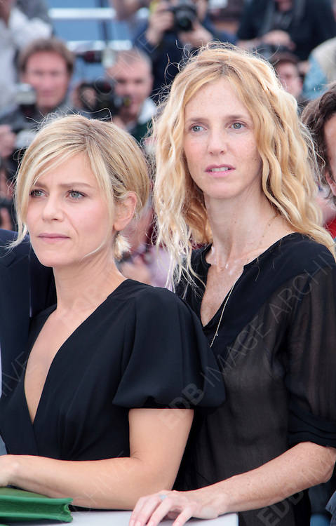 13.MAY.2011. CANNES<br /> <br /> MARINA FOIS AND SANDRINE KIBERLAIN AT POLISSE PHOTOCALL FOR THE 64TH INTERNATIONAL CANNES FILM FESTIVAL<br /> <br /> BYLINE: EDBIMAGEARCHIVE.COM<br /> <br /> *THIS IMAGE IS STRICTLY FOR UK NEWSPAPERS AND MAGAZINES ONLY*<br /> *FOR WORLD WIDE SALES AND WEB USE PLEASE CONTACT EDBIMAGEARCHIVE - 0208 954 5968*