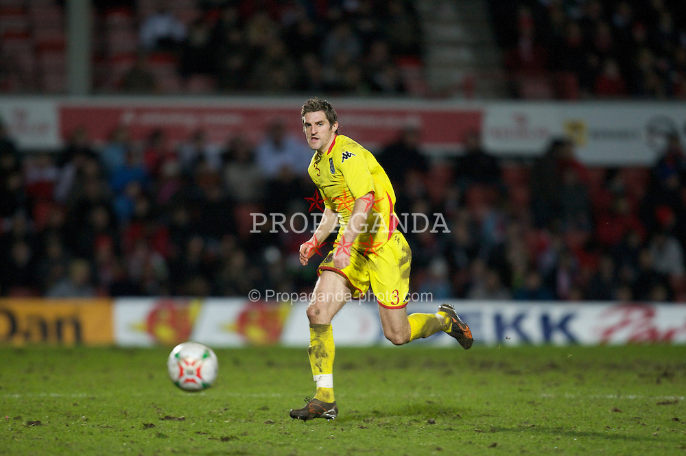 WREXHAM, WALES - Wednesday, February 6, 2008: Wales' Sam Ricketts in action against Norway during an international friendly match at the Racecourse Ground. (Photo by David Rawcliffe/Propaganda)