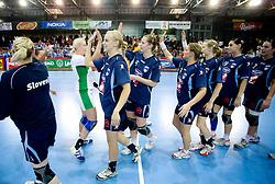 Women European Championships Qualifying handball match between National Teams of Slovenia and Belarus, on October 17, 2009, in Kodeljevo, Ljubljana.  (Photo by Vid Ponikvar / Sportida)