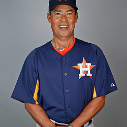 Feb 21, 2013; Kissimmee, FL, USA; Houston Astros bullpen coach Dennis Martinez (37) during photo day at Osceola County Stadium. Mandatory Credit: Derick E. Hingle-USA TODAY Sports