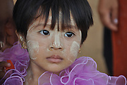 Myanmar, portrait of a young girl
