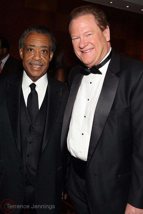 "15 November 2010- New York, NY- l to r: Rev. Al Sharpton and Ed Schultz at The National Action Network's 1st Annual Triumph Awards honoring ""Our Best"" in the Arts, Entertainment, & Sports held at Jazz at Lincoln Center on November 15, 2010 in New York City. Photo Credit: Terrence Jennings"