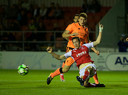 LEYLAND, ENGLAND - Friday, September 1, 2017: Liverpool's Matthew Virtue during the Lancashire Senior Cup Final match between Fleetwood Town and Liverpool Under-23's at the County Ground. (Pic by Propaganda)
