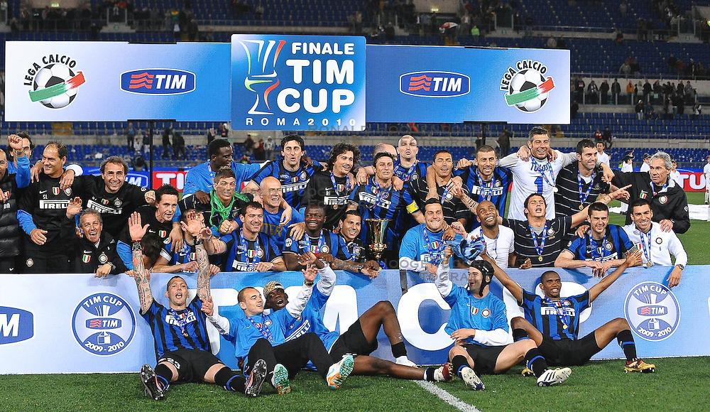 05-05-2010 VOETBAL: COPPA ITALIA AS ROMA - INTER MILAAN: ROMA<br /> Inter wint de finale Coppa Italia van Roma / Inter Milaan wint de Coppa<br /> &copy;2010-FRH-nph / Andrea Staccioli
