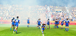 Cape Town 180217-Stomers players take the field when playing their opening game of the Rugby Super 15 at Newlands  .Photograph:Phando Jikelo/African News Agency/ANA