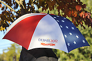 Hofstra commemorative umbrella for Debate 2012