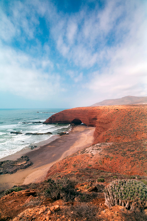 Legzira Beach - Located between Mirleft and Sidi Ifni in the Tiznit Province of Southern Morocco, Legzira is one of the most famous and popular beaches in Morocco.