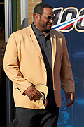Aug 3, 2019; Canton, OH, USA; Jerome Bettis arrives during the Pro Football Hall of Fame Enshrinement at Tom Benson Hall of Fame Stadium. (Robin Alam/Image of Sport)