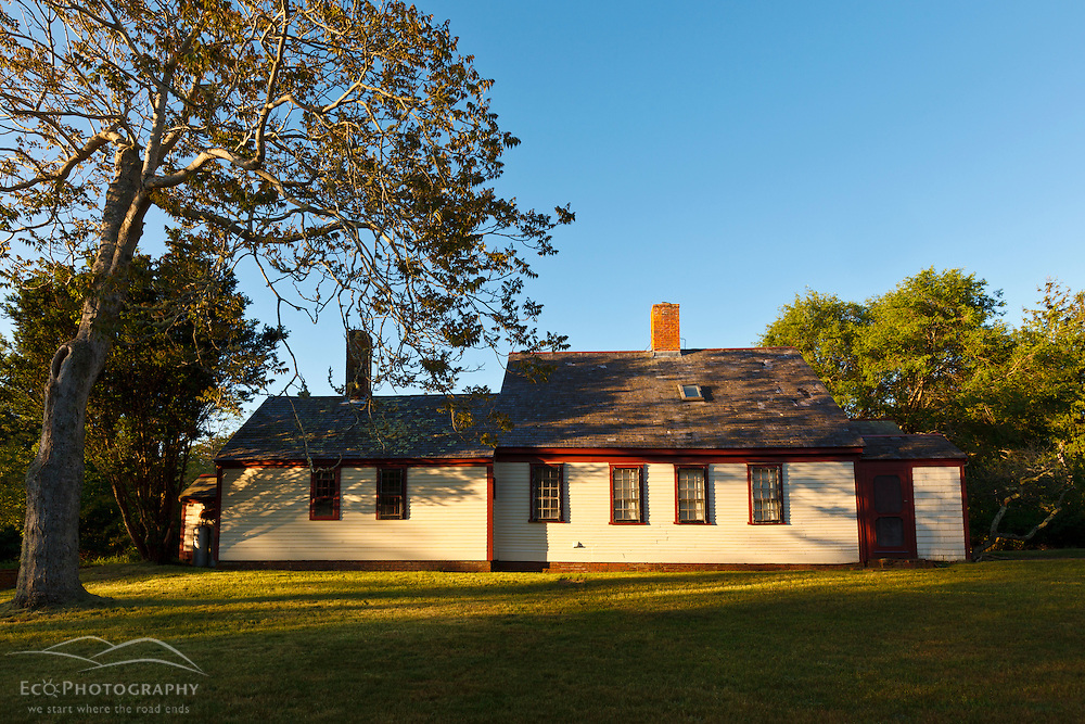 One of the houses on the Biddle Property in Wellfleet, Massachusetts. Cape Cod National Seacshore.