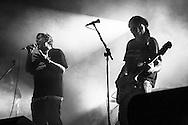 Skiantos in concerto. Cascina Monlué, Milano, 30 settembre 2007.