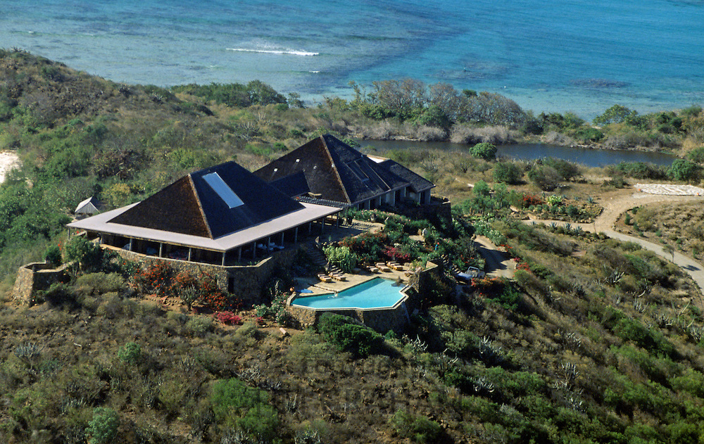Sir Richard Branson's island home, Necker Island, in the British Virgin Islands in the Caribbean