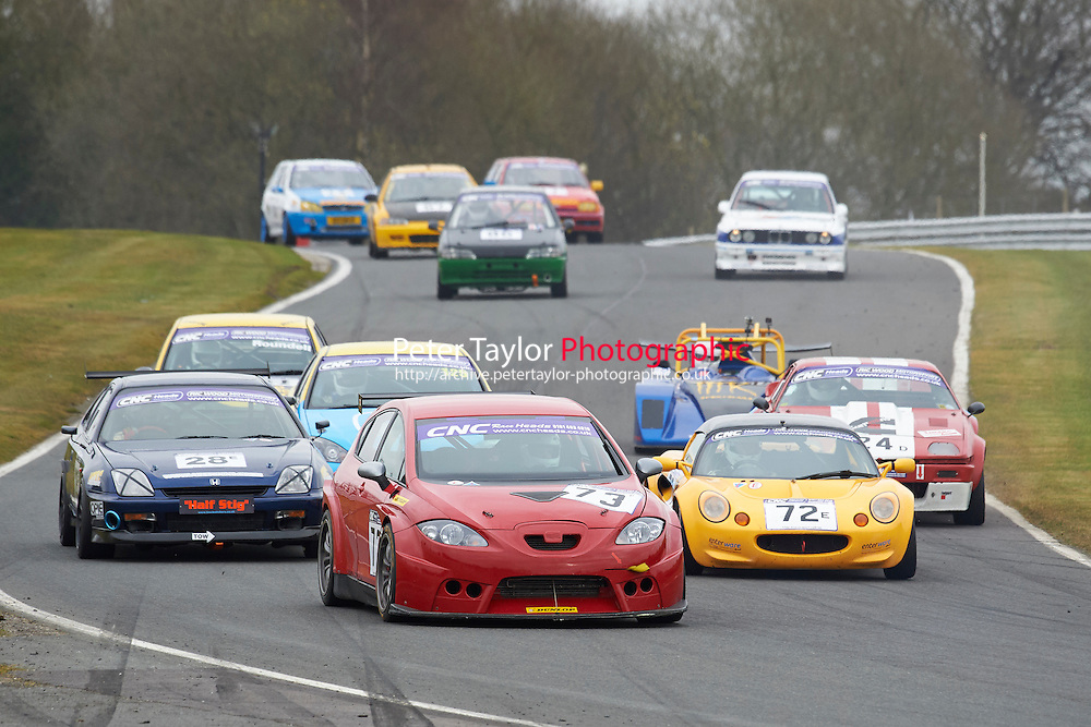 #73 Mike HURST Seat Leon Cupra 2000 during CNC Heads Sports / Saloon Championship as part of the BARC NW - Championship Raceday  at Oulton Park, Little Budworth, Cheshire, United Kingdom. March 19 2016. World Copyright Peter Taylor/PSP. Copy of publication required for printed pictures.  Every used picture is fee-liable. http://archive.petertaylor-photographic.co.uk
