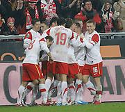 POZNAN 17/11/2010.FOOTBALL INTERNATIONAL FRIENDLY.POLAND v IVORY COAST.Team of Poland ..Fot: Piotr Hawalej / WROFOTO