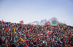 27.01.2013, Ganslernhang, Kitzbuehel, AUT, FIS Weltcup Ski Alpin, Slalom, Herren, Slalom im Bild Fans // Fans during mens Slalom of the FIS Ski Alpine World Cup at the Ganslernhang course, Kitzbuehel, Austria on 2013/01/27. EXPA Pictures © 2013, PhotoCredit: EXPA/ Johann Groder