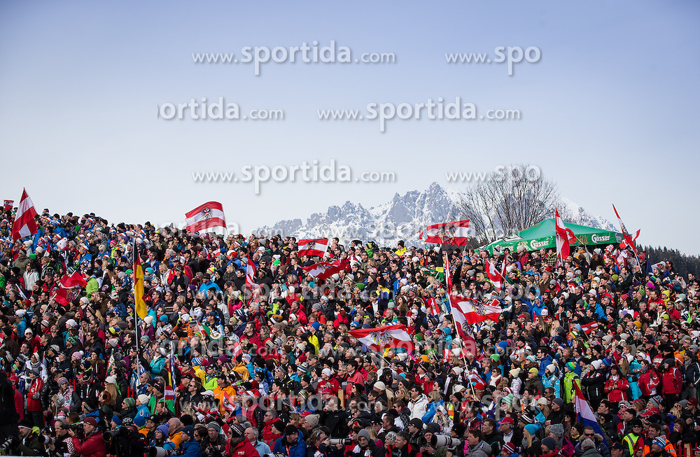 27.01.2013, Ganslernhang, Kitzbuehel, AUT, FIS Weltcup Ski Alpin, Slalom, Herren, Slalom im Bild Fans // Fans during mens Slalom of the FIS Ski Alpine World Cup at the Ganslernhang course, Kitzbuehel, Austria on 2013/01/27. EXPA Pictures © 2013, PhotoCredit: EXPA/ Johann Groder