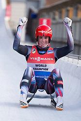 26.11.2016, Winterberg, GER, Viessmann Rennrodel Weltcup, Winterberg, Damen, Einsitzer, im Bild Natalie Geisenberger GER // during women's single seater of Viessmann Luge World Cup. Winterberg, Germany on 2016/11/26. EXPA Pictures © 2016, PhotoCredit: EXPA/ Rolf Kosecki<br /> <br /> *****ATTENTION - OUT of GER*****