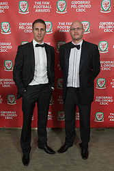 CARDIFF, WALES - Monday, October 8, 2012: Guests arrive for the FAW Player of the Year Awards Dinner at the National Museum Cardiff. (Pic by David Rawcliffe/Propaganda)