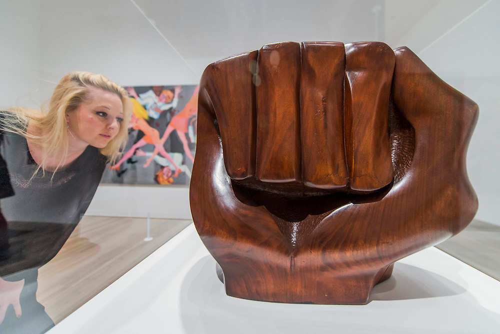 Black Unity 1968 by Elizabeth Catlett - Soul of a Nation: Art in the Age of Black Power, Tate Modern's new exhibition exploring what it meant to be a Black artist during the Civil Rights movement.  The exhibition is at Tate Modern from 12 July – 22 October 2017.