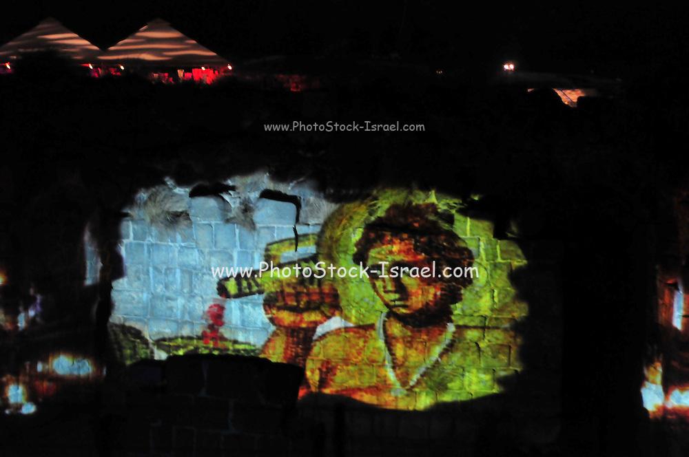 Israel, Bet Shean, Scythopolis, an Audio Visual show on the ruins