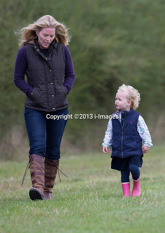 Autumn Phillips and her daughter Savannah attends the Whatley Manor International Horse Trials at Gatcombe Park, United Kingdom. Saturday, 21st September 2013. Picture by i-Images