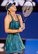 Maria Sharapova (RUS) [14]<br /> 2010 Australian Open Tennis<br /> Womens Singles<br /> First Round<br /> 18/01/10<br /> &quot;Rod Laver Arena&quot; Melbourne Park, Melbourne, Victoria, Australia<br /> Photo By Lucas Wroe