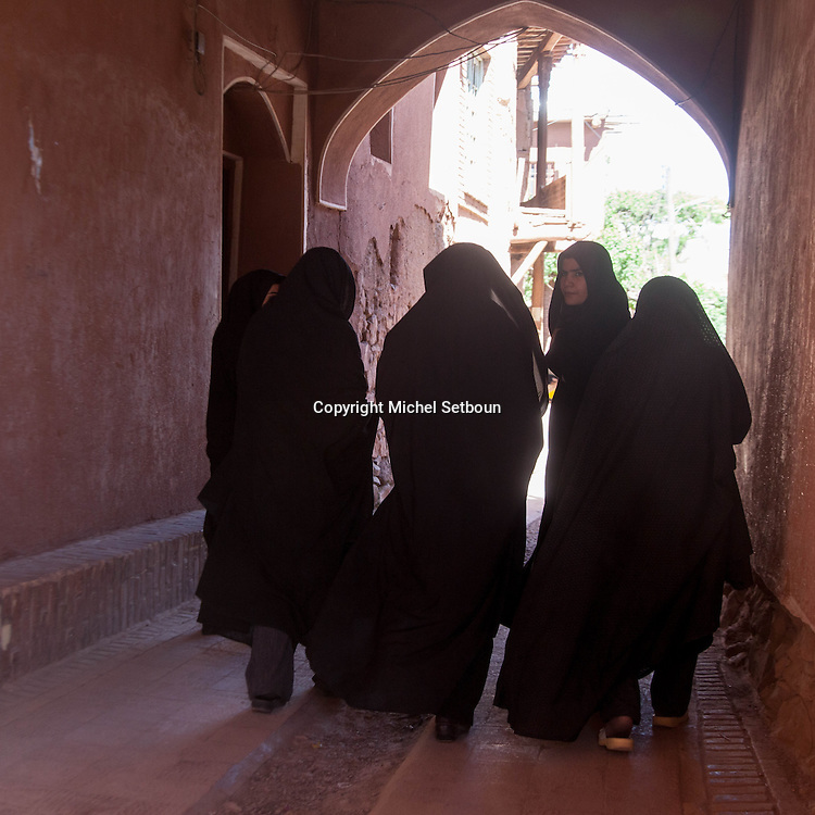 Iran. Isfahan Province. Abyaneh (Persian: ابیانه‎) is a famous historic Iranian village near the city of Natanz . Characterized by a peculiar reddish hue, the village is one of the oldest in Iran, attracting numerous native and foreign tourists  / Abyaneh , village traditionnel de la province d'Ispahan