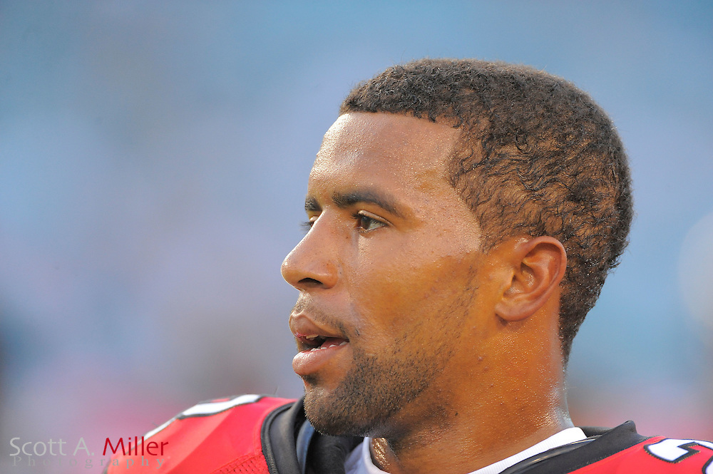 Atlanta Falcons safety Thomas DeCoud (28) during the Falcons game against the Jacksonville Jaguars at EverBank Field on Aug. 19, 2011 in Jacksonville, Fla...©2011 Scott A. Miller
