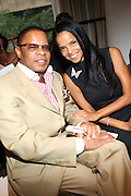 "l to r: Stephen Byrd and Victoria Rowell at b.michael America Spring 2010 Collection "" Advanced American Style "" held at Christie's in Rockefeller Plaza on September 16, 2009 in New York City."