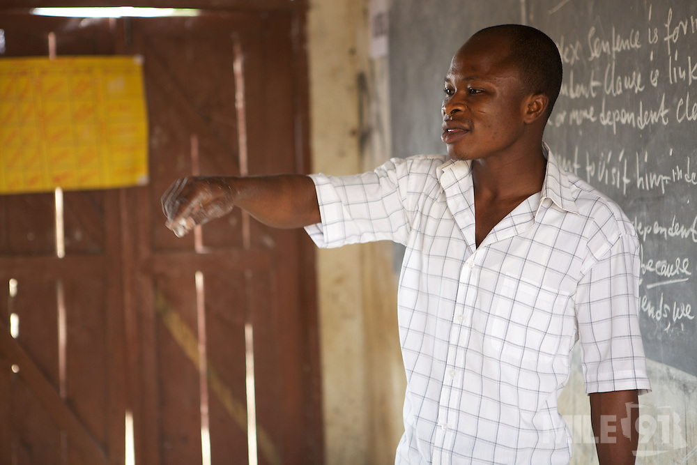 Elisha Ayibasiya is a teacher at Tonga Junior High School, Ghana