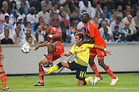 FOOTBALL - UEFA CHAMPIONS LEAGUE 2011/2012 - GROUP STAGE - GROUP F - OLYMPIQUE DE MARSEILLE v BORUSSIA DORTMUND - 28/09/2011 - PHOTO PHILIPPE LAURENSON / DPPI - MARIO GOTZE (DOR) / ANDRE AYEW / ALOU DIARRA (OM)