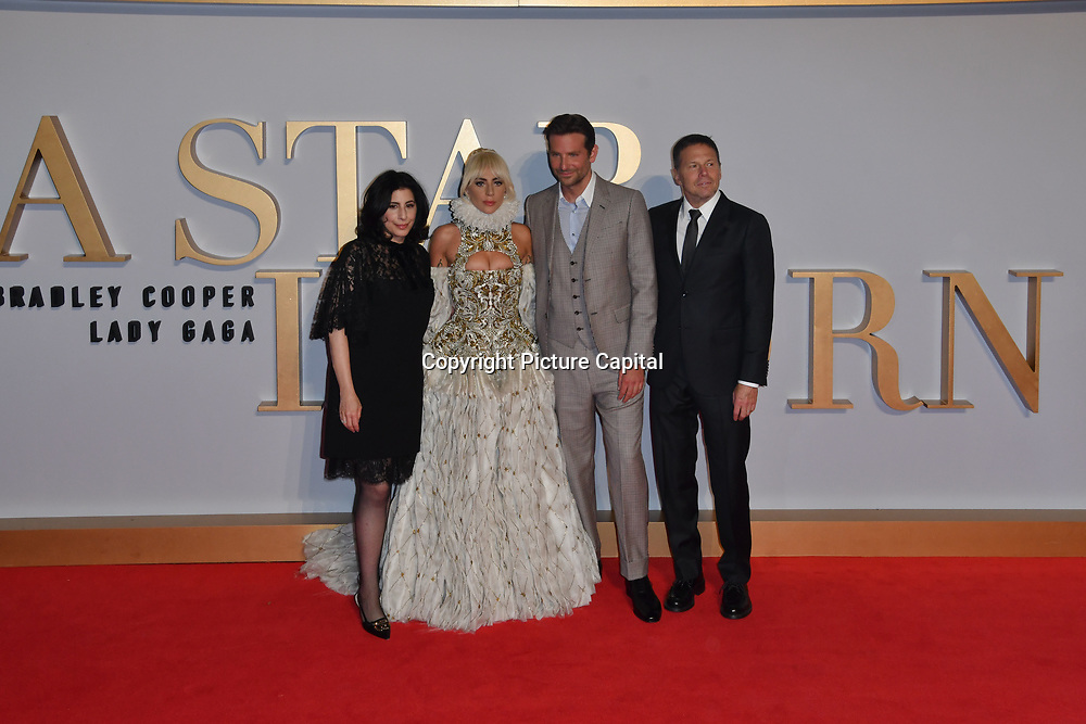 Lady Gaga ,Bradley Cooper and cast crew attend A Star Is Born UK Premiere at Vue Cinemas, Leicester Square, London, UK 27 September 2018.