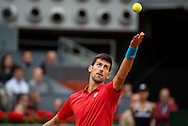 Novak Djokovic during the final of the Madrid Open at Manzanares Park Tennis Centre, Madrid<br /> Picture by EXPA Pictures/Focus Images Ltd 07814482222<br /> 08/05/2016<br /> ***UK &amp; IRELAND ONLY***<br /> EXPA-ESP-160509-0112.jpg