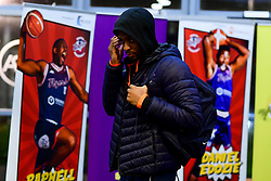 Levi Bradley of Bristol Flyers arrives at SGS Wise Arena prior to kick off - Photo mandatory by-line: Ryan Hiscott/JMP - 17/01/2020 - BASKETBALL - SGS Wise Arena - Bristol, England - Bristol Flyers v London City Royals - British Basketball League Championship