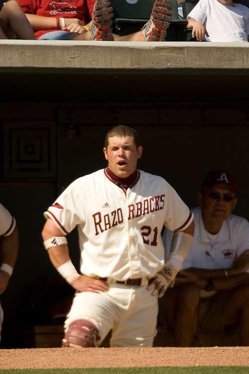 Arkansas Razorbacks baseball team during the 2006-2007 season at Baum Field in Fayetteville, Arkansas...©Wesley Hitt.All Rights Reserved.501-258-0920.