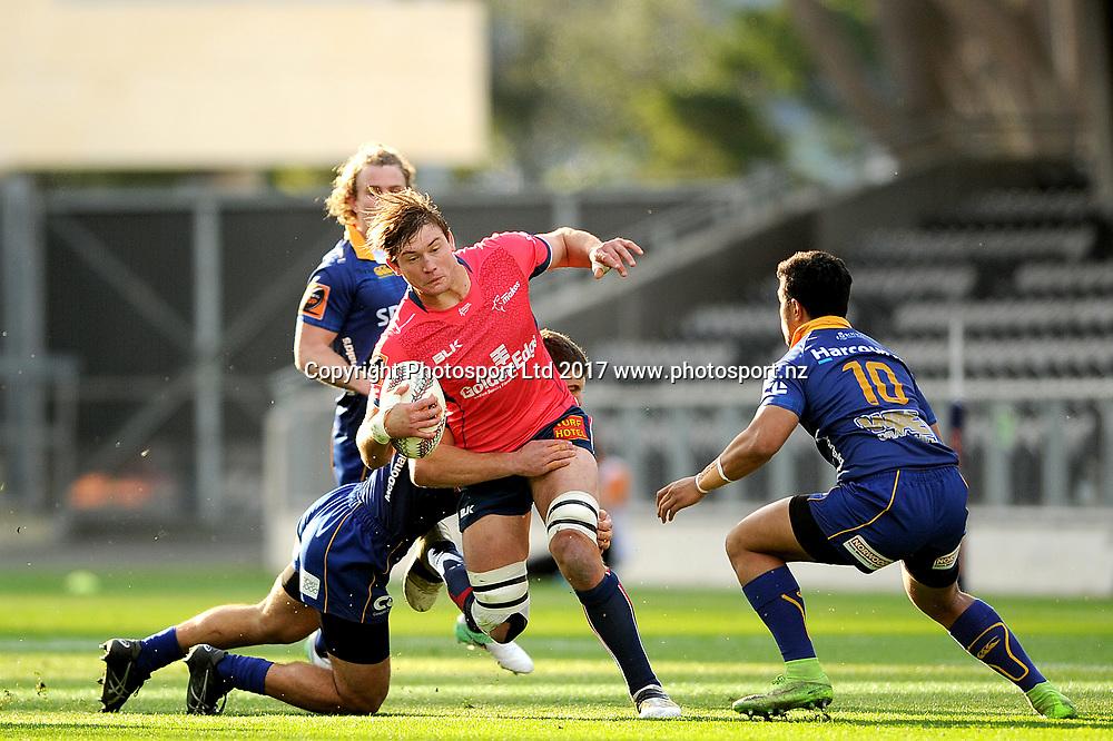 Ethan Blackadder of Tasman. Otago v Tasman. Mitre 10 Cup Championship Rugby Union. Forsyth Barr Stadium, Dunedin, New Zealand. 16 September 2017. Copyright Image: Joe Allison / www.photosport.nz