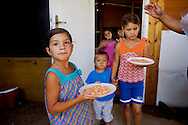 Roma 30 Agosto 2013<br /> Il campo rom di Via Salviati  abitato da circa 160 persone  di origine serba scappati dopo che incendi dolosi  si sono verificati nel campo di Castel Romano ai loro danni.