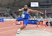 Darrell Hill (USA) places fourth in the shot put at 69-9¾ (21.28m) during the IAAF Doha Diamond League 2019 at Khalifa International Stadium, Friday, May 3, 2019, in Doha, Qatar (Jiro Mochizuki/Image of Sport)