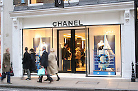 chanel shop in london's west end