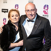 NLD/Hilversum/20160215 - Buma Awards 2016, Daniel Dekker en partner Carla Versloot