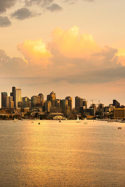 Lake Union and Downtown Seattle, Washington State, USA