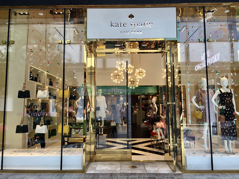 GV's of Kate Spade store front in Beverly Hills after the eponymous founder's apparent suicide. 05 Jun 2018 Pictured: Kate Spade. Photo credit: APEX / MEGA TheMegaAgency.com +1 888 505 6342