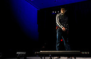 Clay West winks at the crowd during the fashion show of the National Rifle Association (NRA) Carry Guard Expo in Milwaukee, Wisconsin, U.S., August 25, 2017.   REUTERS/Ben Brewer